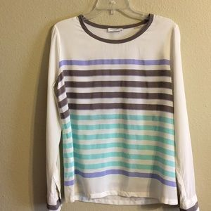 Equipment Femme striped silk top medium